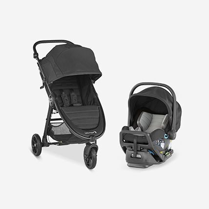 city mini GT2 stroller and car seat